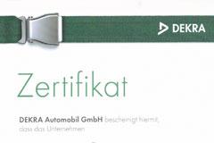 PÜR Lack - Meisterbetrieb für Karosserie- und Lackiertechnik in Ahlen | Dekra Zertifikat