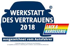 werkstattPÜR Lack - Meisterbetrieb für Karosserie- und Lackiertechnik in Ahlen | Werkstatt des vertrauens 2018